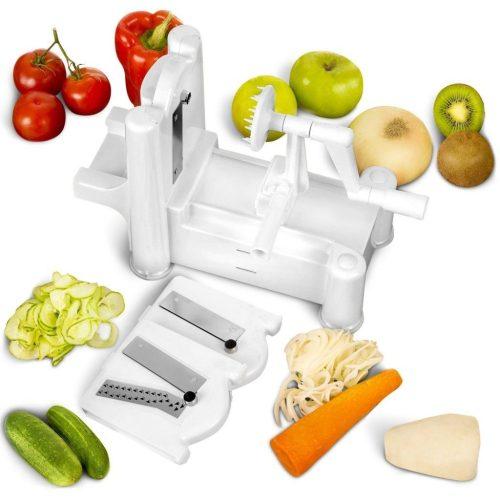 multi-blade spiral vegetable slicer
