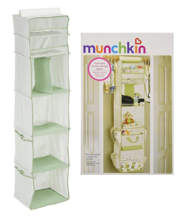 Munchkin 6 Shelf Closet Organizer, Cream/Green Only $4.99! (Reg. $25)!