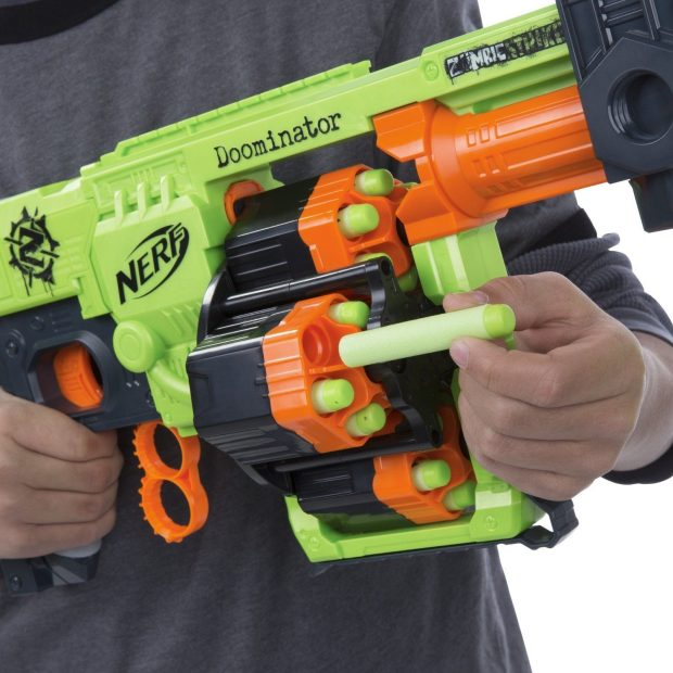 Nerf Zombie Strike Doominator Blaster Was $40 Now Only $29.88!