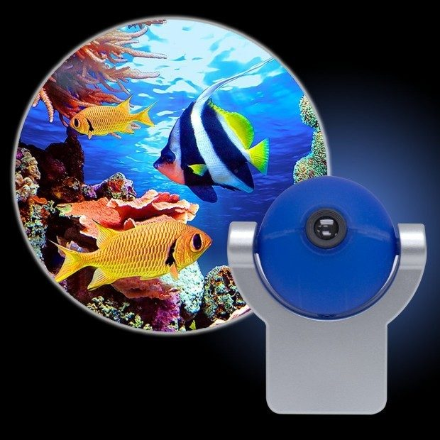 Tropical Fish Projectables LED Plug-In Night Light Now Just $8.02!