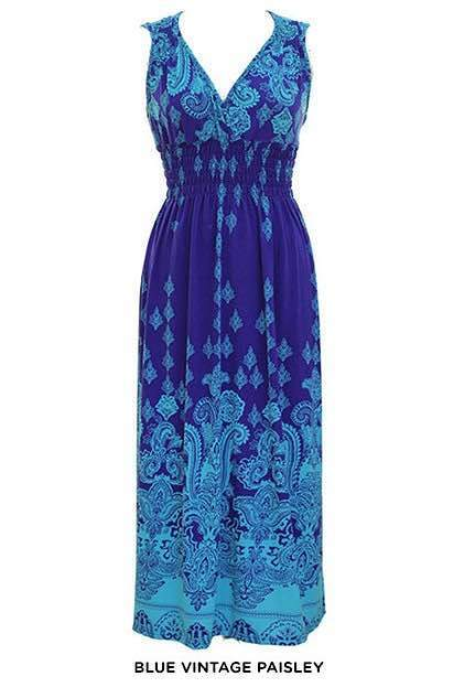 Exotic Print Maxi-Dress - Assorted Styles Only $21 Shipped!