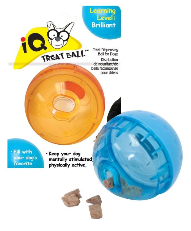 Our Pets Smarter Interactive IQ Treat Ball Dog Toy Just $8.43!