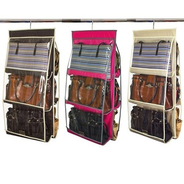 Home Collections™ 6 Pocket Hanging Purse Organizer Only $14.99 Shipped!