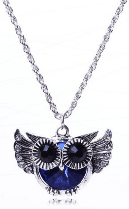 Owl Punk Rock Style Rhinestone Necklace Just $3.04 Down From $3.30!