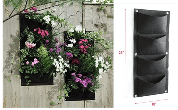 4 Pocket Vertical Wall Garden Planter Only $6.95!