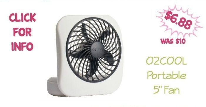 O2COOL 5-Inch Portable Fan Just $6.88! Was ($10)