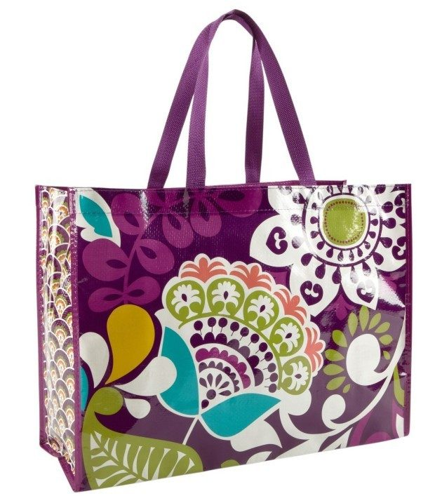 Vera Bradley Market Tote Bag In Plum Crazy Only $3.50 Ships FREE!