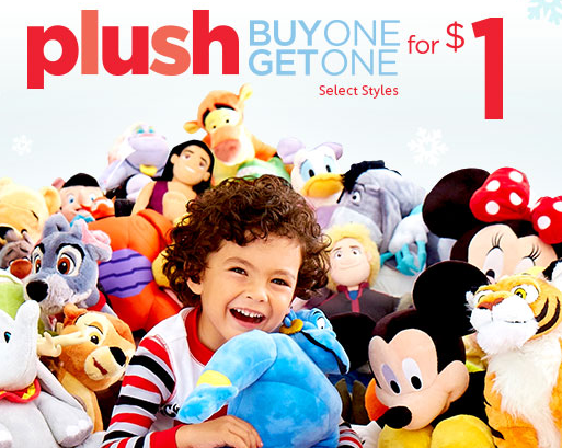 Buy One Plush Get One for $1!
