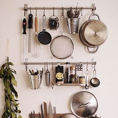Stainless Steel Gourmet Kitchen Wall Rack Only $19.99!