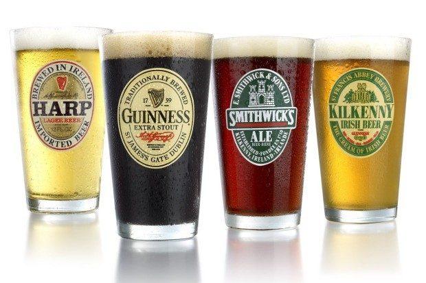 Irish Beer Label Pub Beer Glass, 16-Oz, Set of 4 Only $16.99!