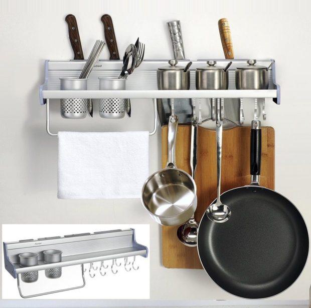Kitchen Organizer Wall Rack Only $26.99! (Reg. $53)