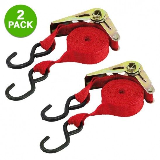 2-pack: Ratchet Tie Down Set Just $8.99 Down From $29.99! Ships FREE!
