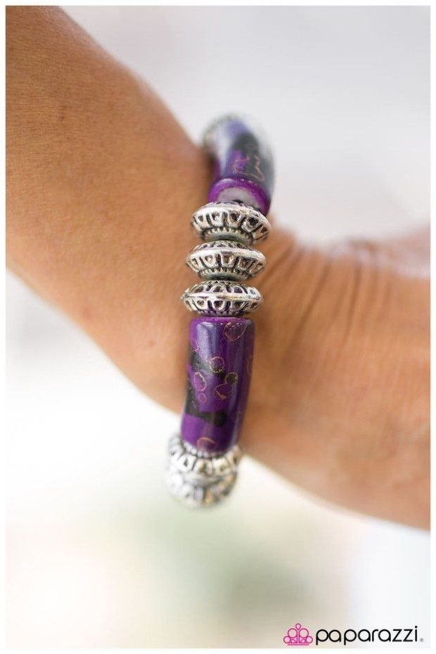 Purple Rocky Road Bracelet Just $5!