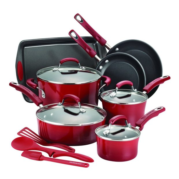 Rachael Ray 14-Piece Hard Enamel Nonstick Cookware Set Was $290, Now Only $89.99!
