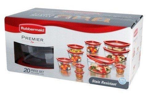 Rubbermaid 20-Piece Premier Food Storage Container Set Just $17.99!