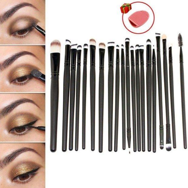 set of 20 Makeup Brushes