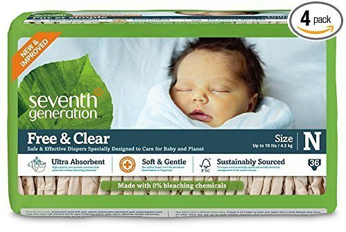 Seventh Generation Free and Clear Diapers Just $2.99 per Jumbo Pack!