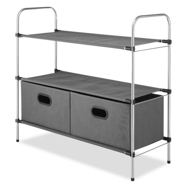 Closet Organizer 3 Tier Shelves with 2 Collapsible Drawers Only $26.99! (Reg. $40!)
