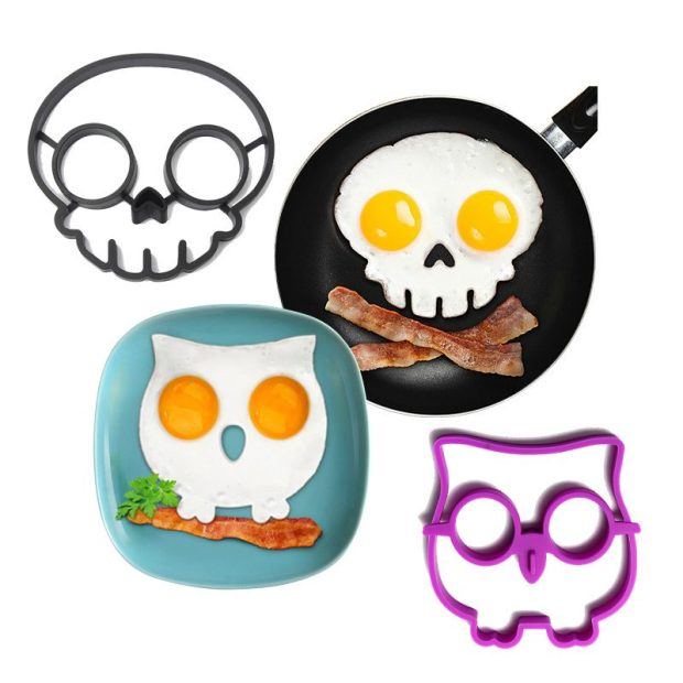 Skull and Owl Fried Egg/Pancake Molds Only $5.43 Plus FREE Shipping!