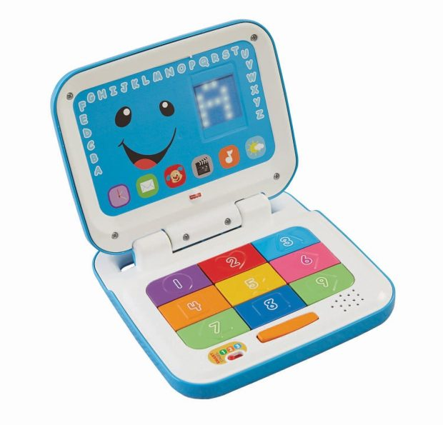 Fisher-Price Laugh & Learn Smart Stages Laptop, Blue/White Just $10.90!