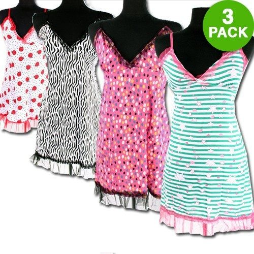 3 Pack: Ladies Patterned Night Gowns Just $12.99 Down From $69.99 At GearXS!