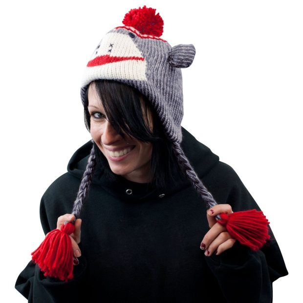 Adult Sock Monkey Knit Hat Only $10.97! Ships FREE!