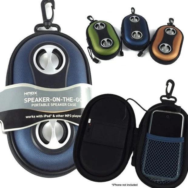 HMDX Speaker-On-The-Go Portable Speaker Case $6.99 Plus FREE Shipping!