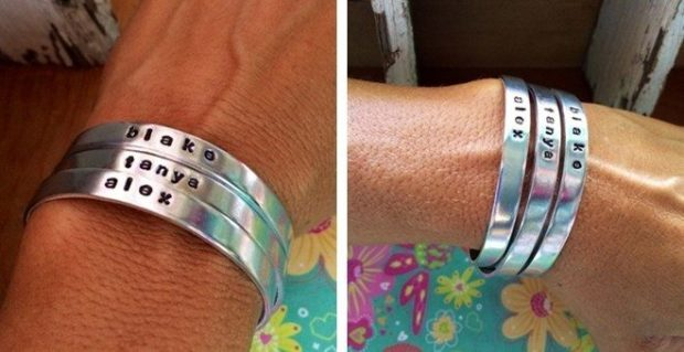 Personalized Hand Stamped Stacking Cuffs Only $11.98 Shipped!!