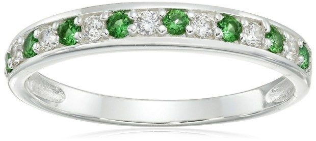 Sterling Silver and Cubic Zirconia Band Ring - Was $39 Now Only $12.84!
