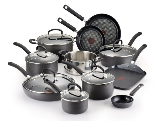 T-fal Ultimate Hard Anodized, Oven Safe Cookware Set, 17 Pc Just $145.99! (Reg. $280)