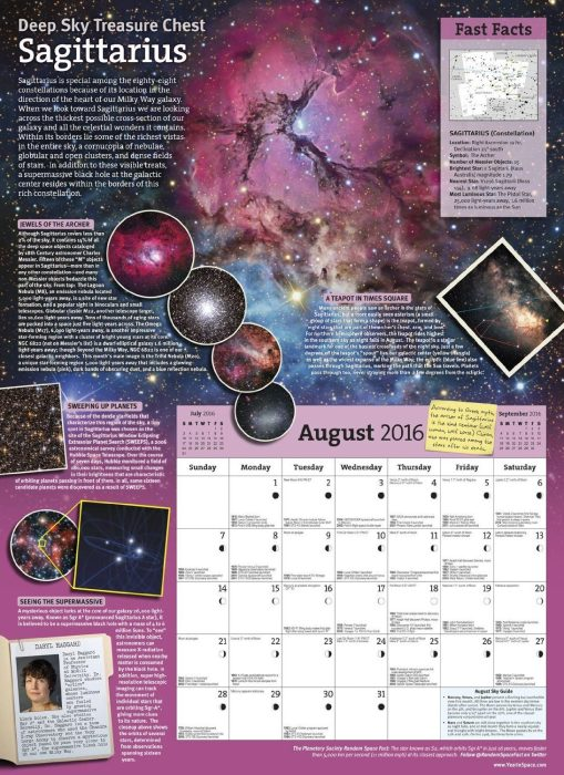 The Year in Space 2016 Wall Calendar Just $13.95!