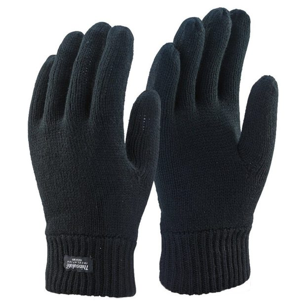 Mens 3m Black Thinsulate Thermal Lined Winter Gloves Was $19 Now Just $9! Ships FREE!