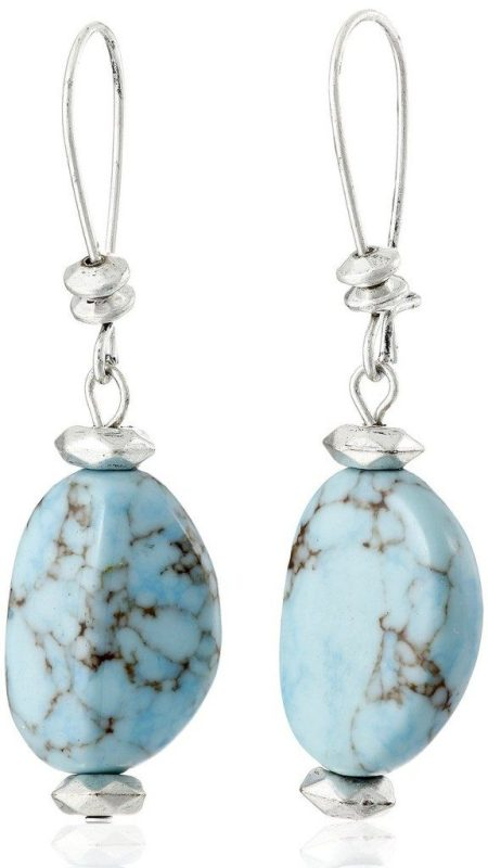 Turquoise Bead Drop Earrings Extra 30% Off Now Just $7.84!