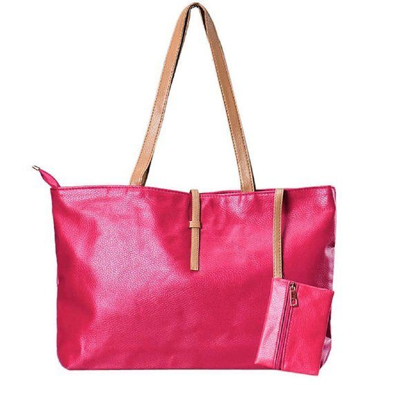 Classic Faux Leather Medium Tote Only $7.77 Shipped!