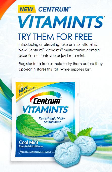 FREE Centrum Vitamints Sample!