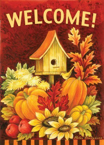 Fall Birdhouse 28 x 40-Inch Decorative House Flag Only $14.13! (Reg. $24.99)