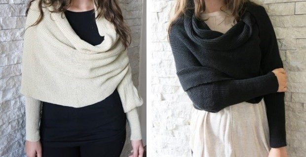 Wrap Scarf with Sleeves - 5 Colors Just $14.95!