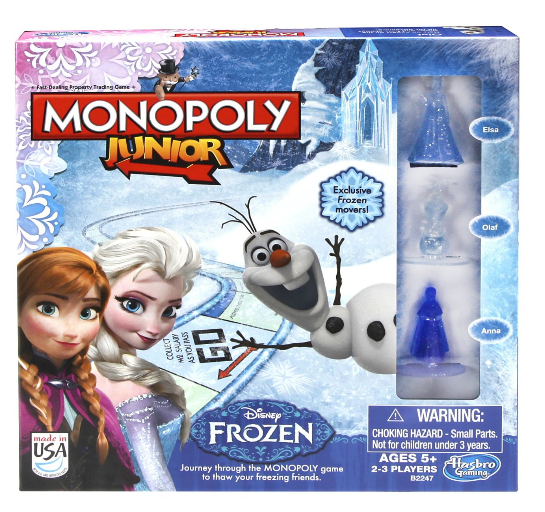 Monopoly Junior Game Frozen Edition $11.21!