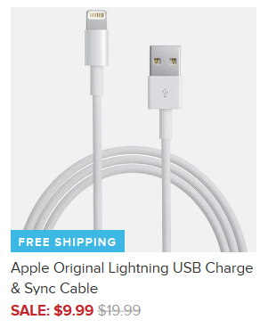 Apple Original Lightning USB Charge & Sync Cable $9.99 + FREE Shipping (Reg. $20)!