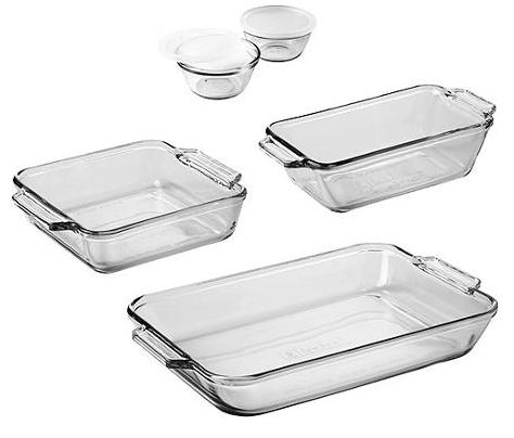 Anchor Hocking 7-Piece Bakeware Set $14.97 + FREE Store Pickup!