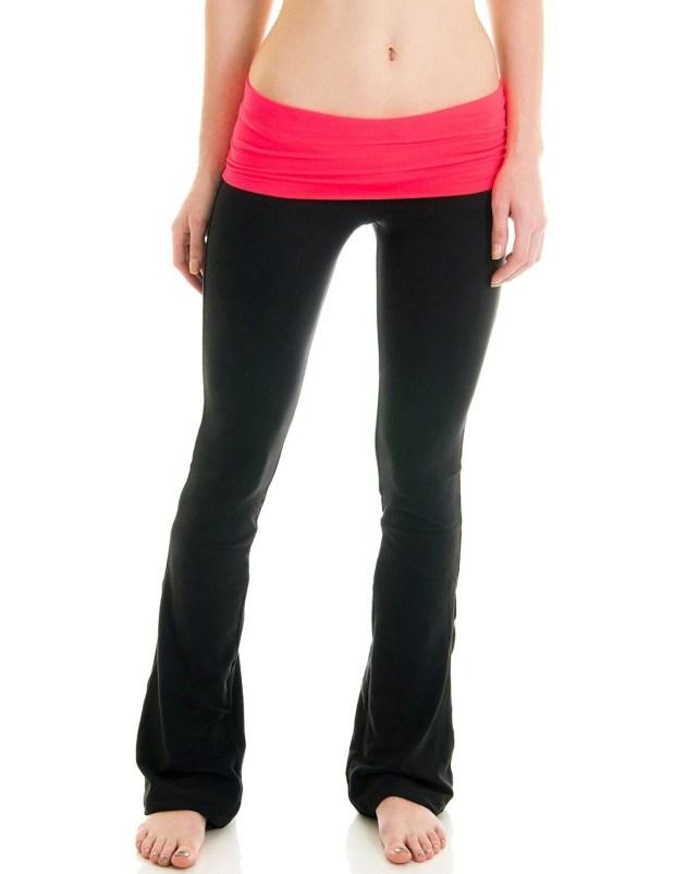 Fold Over Athletic Yoga Pants Just $9.97!  (Reg. $50!)