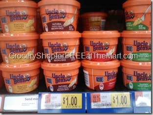 Uncle Ben's Rice tubs