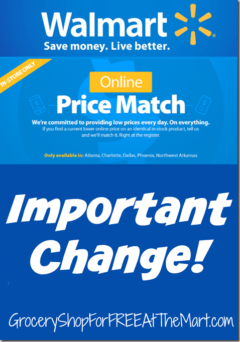 Important Change to Walmart's Online Price Matching Policy