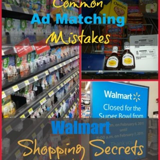 Walmart Shopping Secrets: Common Ad Matching Mistakes