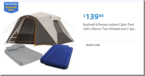 Walmart Values of the Day Bushnell Tent Kit for $139 or Samsung Chromebook for $169  sc 1 st  Grocery Shop For FREE At The Mart & Walmart Values of the Day: Bushnell Tent Kit for $139 or Samsung ...
