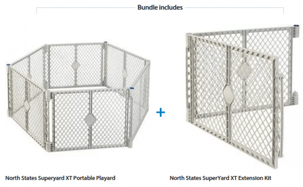 North States Portable Playard And Extension Kit Just $70 Down From $81.36  At Walmart!