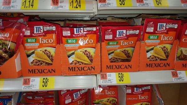McCormick Taco Seasoning Mix Just $0.33 At Walmart!