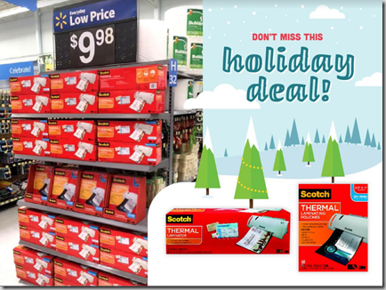 Scotch Thermal Laminators and Pouches on RollBack at Walmart!