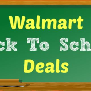 2017 Walmart Back To School Deals!