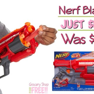 Nerf CycloneShock Blaster Just $8.88!  Was $20!